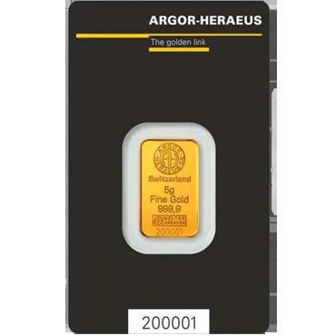 Argor Heraeus SA 5 gramov