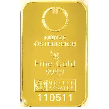Münze Österreich 5 gramov