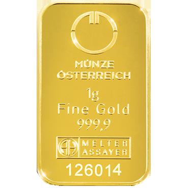 Münze Österreich 1 gram - Kinebar