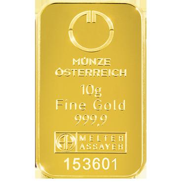 Münze Österreich 10 gramov - Kinebar