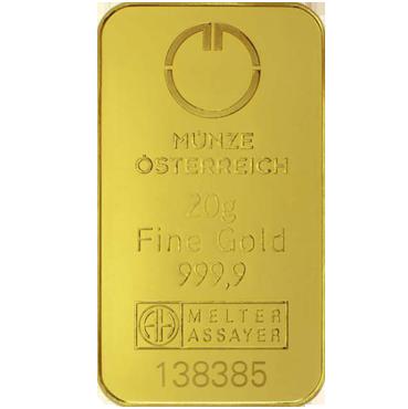 Münze Österreich 20 gramov