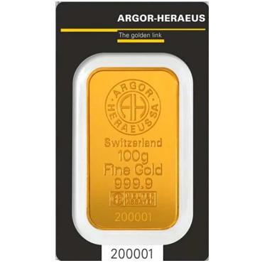 Argor Heraeus SA 100 gramov