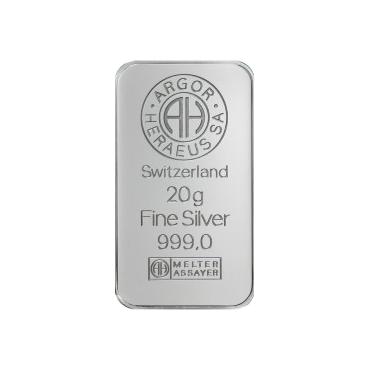 Argor Heraeus SA 20 gramov Ag