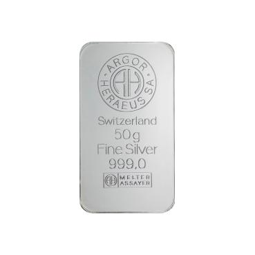 Argor Heraeus SA 50 gramov Ag