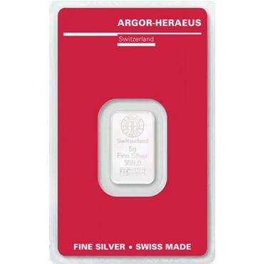 Argor Heraeus SA 5 gramov Ag