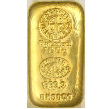 Argor Heraeus SA 100 gramov - liaty