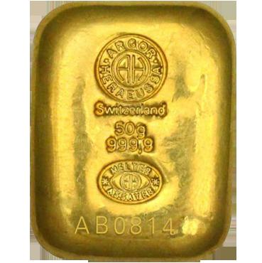 Argor Heraeus SA 50 gramov - liaty