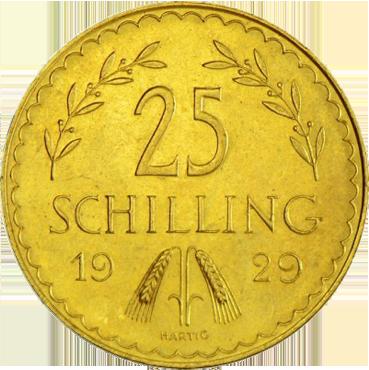 25 Schilling I. republika Rakúsko
