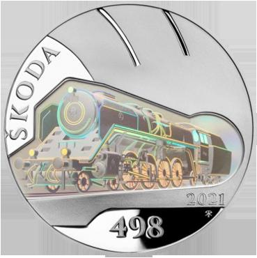 500 Kč – Parná lokomotíva Škoda 498 Albatros 2021