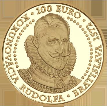 100 € - Bratislavské korunovácie - 450. výročie korunovácie Rudolfa 2022