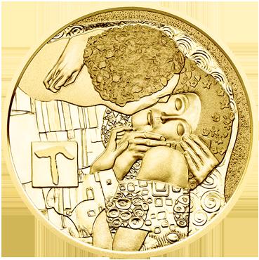 50 € - Klimt a jeho ženy – Bozk 2016 proof