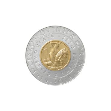 2000 Kč - Zavedenie československej koruny 2019