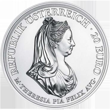 20 € - Mária Terézia – Zhovievavosť a Zbožnosť