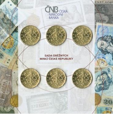 Sada 6 x 20 Kč mincí s portrétmi osobností Československa - bežná kvalita