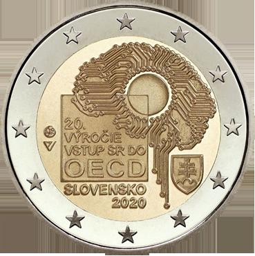 2 € - Vstup SR do OECD 20. výročie 2020