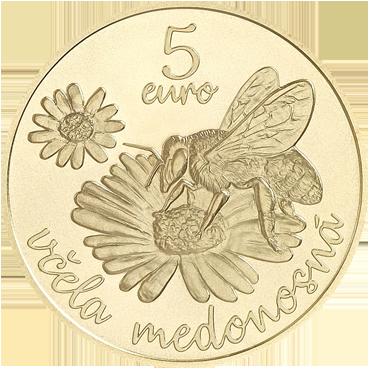 5 € - Flóra a fauna na Slovensku - včela medonosná