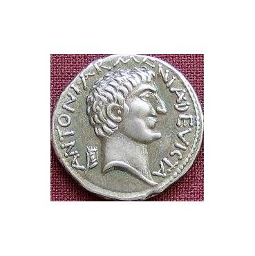 Denár – M. Antonius a Kleopatra (34 pr. Kr.) Rím