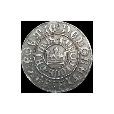 Pražský groš Ľudovít II. Jagelovský (1516 – 1526)