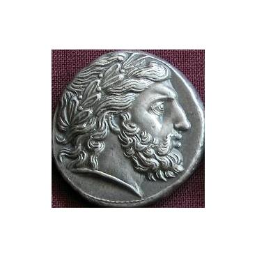 Tetradrachma Filip II. (359-336 pr. Kr.) Macedónsko - cínová replika