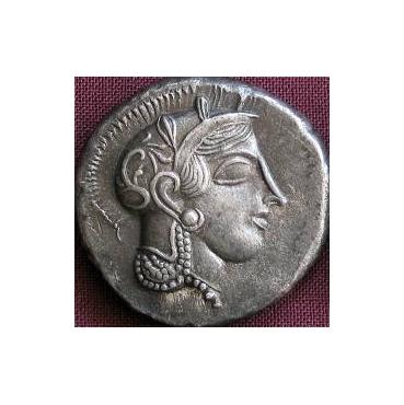 Tetradrachma Atény (455-449 pr. Kr.) Grécko -cínová replika