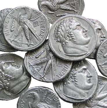 Judášových 30 strieborných – Šekel (100 pr. Kr.) - sada 30 ks mincí