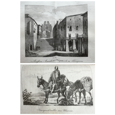 Spanien, oder Sitten, Gebräuche, Trachten und Denkmäler der Spanier (dva zväzky spolu vjednej knihe)