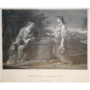 Ježiš a samaritánka - grafika
